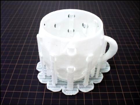 造型材料をそのままサポート材として使う例